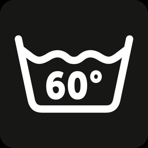 Waschbar bis zu 60°C