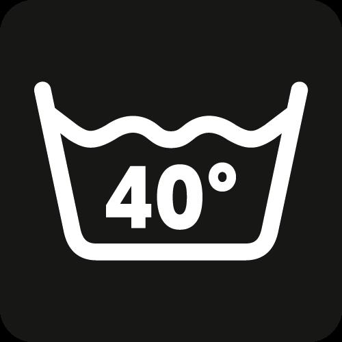 Waschbar bis zu 40°C